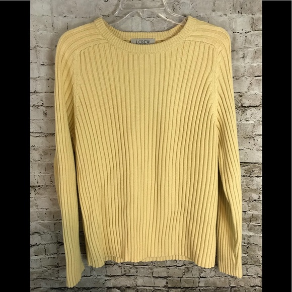 73% off J. Crew Other - Men's J. Crew Yellow Ribbed Sweater Medium ...